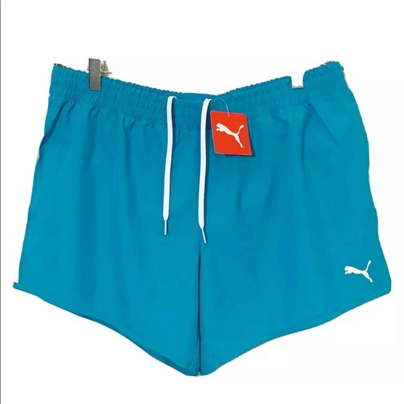 Puma Pants - PUMA Blue Cruiser Short Caribbean Sea White XXL